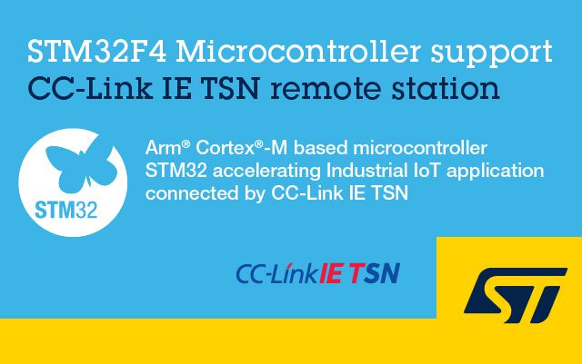 STM32F4 Microcontroller support CC-Link IE TSN remote station